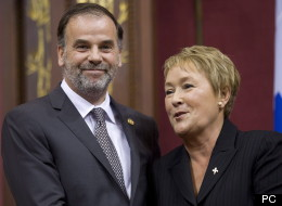 Pierre Duchesne et Pauline Marois, lors de sa nomination. (PC)