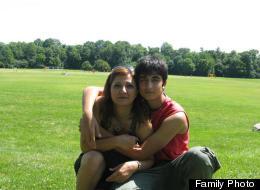 Fatemeh Derakhshandeh Tosarvandan, with her son Hessam Hafezi Mashhadi. (Family Photo)