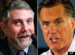Paul Krugman and Mitt Romney.