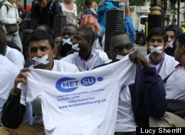 London Met Uni students protest the visa licence revocation