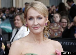 In this July 7, 2011 file photo, British author JK Rowling arrives in Trafalgar Square, in central London, for the World Premiere of