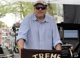 David Simon on the set of