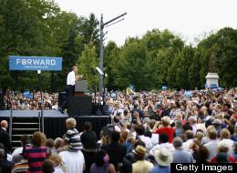 U.S. President Barack Obama speaks to supporters on September 17, 2012, in Columbus, Ohio. (Photo by Matt Sullivan/Getty Images)