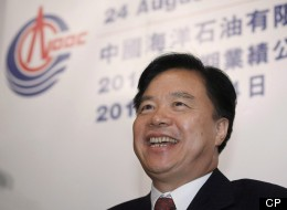 In this August 24, 2011 photo, CNOOC Ltd. Chairman Wang Yilin attends a company announcement in Hong Kong. Yilin recently said CNOOC's offshore oil rigs are a