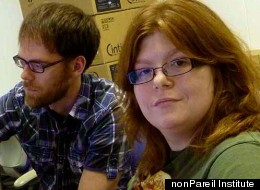 Andrew LaBounty (left) trains Amelia Schabel, who has Asperger's syndrome, to do computer-aided art at the nonPareil Institute in Plano, Texas.