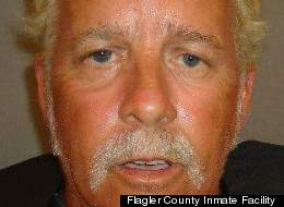 Marty Parrish is accused of walking along the boardwalk in Flagler Beach, Fla., wearing only a hat.