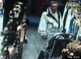 Police in Lancashire, England, say that this man stole an iPhone from a baby at a clothing store.