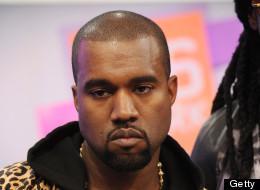 Kanye West looks fierce.
