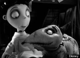 Charlie Tahan plays Victor Frankenstein in Tim Burton's