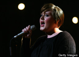 Adele performing in 2008; the singer recorded the title track for the James Bond film