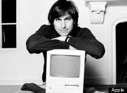 Apple co-founder Steve Jobs with the original Macintosh
