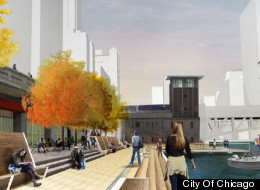 The city released conceptual renderings of their planned Riverwalk expansion.