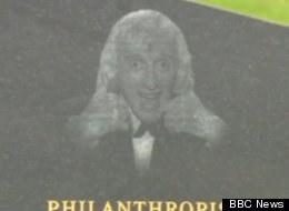 The gravestone of children's entertainer Jimmy Savile has been removed from an English cemetery after several woman have come forward alleging that he sexually assaulted them.