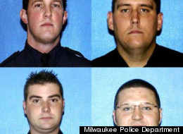 (Clockwise from upper left) Officer Jeffrey Dollhopf, Officer Michael Vagnini, Officer Jacob Knight, Officer Brian Kozelek