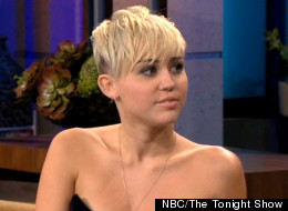 Miley Cyrus chats with Jay Leno on