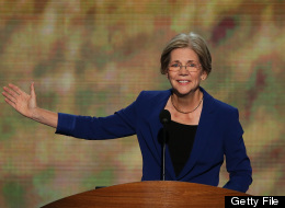 CHARLOTTE, NC - SEPTEMBER 05: Massachusetts Senate candidate Elizabeth Warren speaks during day two of the Democratic National Convention at Time Warner Cable Arena on September 5, 2012 in Charlotte, North Carolina. (Photo by Alex Wong/Getty Images)