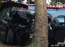 When a 13-year-old who had allegedly stolen a car saw his mother driving in the opposite direction, he became so distracted he crashed the car into a tree.