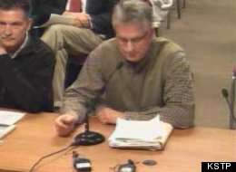 At right, Parents Action League member Bryan Lindquist at an Anoka-Hennepin School Board meeting.