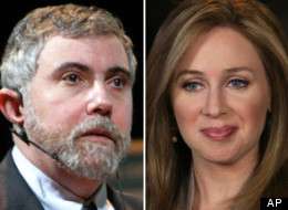 Paul Krugman and Becky Quick.