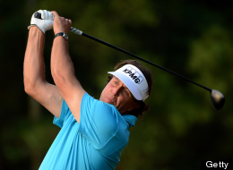 Phil Mickelson of the US tees off at the 17th hole during the Pro-Am for the WGC-HSBC Champions tournament held on the Olazabal Course at Mission Hill Golf Club in Dongguan on October 31, 2012. (MARK RALSTON/AFP/Getty Images)