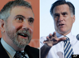 Paul Krugman and Mitt Romney.