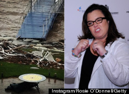 Rosie O'Donnell was just one of millions impacted by Hurricane Sandy.