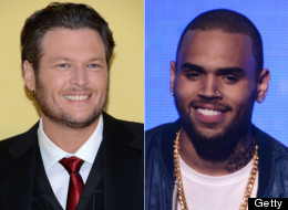 Chris Brown and Blake Shelton are this week's trending stars.