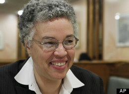 In this photo taken Nov. 23, 2010, Cook County Board President Toni Preckwinkle speaks during an interview with the Associated Press in Chicago. (AP Photo/M. Spencer Green)