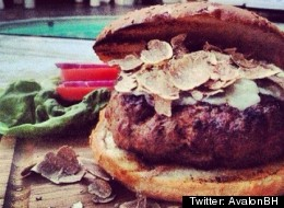 A picture of the Oliverio restaurant's hamburger al tartufo.