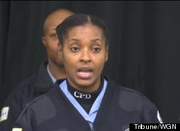 Officer Naomi Gibson was among the half dozen officers who found an abducted and abandoned newborn earlier this week. (Credit: Tribne/WGN)
