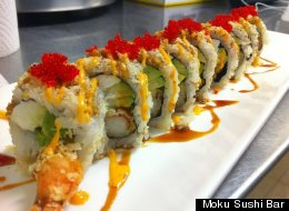 Moku Sushi Bar will have its doors open on Thanksgiving. It is among GrubHub's highest-rated local restos open for T-Day.