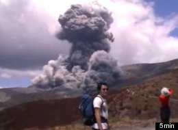 Lomi Schaumke, a teacher at Tamatea Intermediate School, captured dramatic footage of Mount Tongariro erupting.