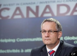 International Trade Minister Ed Fast speaks with the media during an announcement in Ottawa, Monday October 1, 2012. Fast is negotiating a free trade deal between Canada and the EU. (THE CANADIAN PRESS/Adrian Wyld)