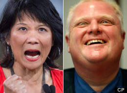 A recent poll showed Rob Ford still has strong support in Toronto, but would lose in race with federal MP Olivia Chow. (CP)
