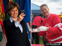 B.C. Premier Christy Clark's use of Twitter leaves Conservative MP Mike Warawa's lacklustre feed in the dust. (CP/Facebook)