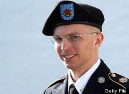 U.S. Army Private Bradley Manning is escorted as he leaves a military court at the end of the first of a three-day motion hearing June 6, 2012 in Fort Meade, Maryland. (Photo by Alex Wong/Getty Images)
