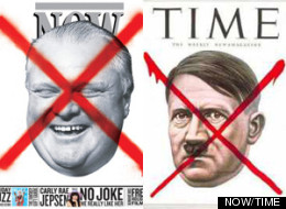 Toronto's NOW Magazine is under fire for a Rob Ford cover that many are comparing to a Time Magazine cover featuring Hitler. (NOW/TIME)