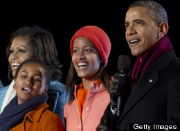 The Obama family is attending the holiday concert tonight.