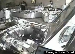 A Georgia jewelry store was turned into a drive-through when an elderly woman crashed through the storefront.