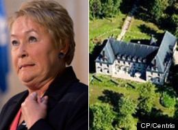 The sale of Pauline Marois' house, an opulent mansion known as  La Closerie, has hit a roadblock due to the buyer's foreign citizenship. (CP/Centris)