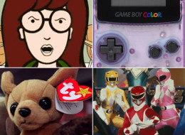 Daria, Game Boy Color, TY Beanie Babies and Mighty Morphing Power Rangers. (YouTube, Wikimedia, Getty, Saban)