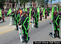 The South Shore Drill Team performs in the 2012 Bud Billiken Day Parade. (South Shore Drill Team)