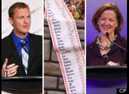 The Alberta chapter of the Canadian Taxpayers Federation has released its annual naughty-or-nice list of provincial cabinet ministers. (CP)