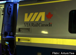 A woman was found dead on a Via Rail passenger train early Saturday morning. (Flickr: ArturoYee)