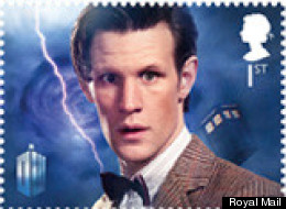 Matt Smith is featured on the Royal Mail's