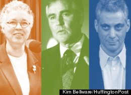The fight for marriage equality in Illinois has drawn together unlikely allies, including Cook County Board President Toni Preckwinkle, Chicago Mayor Rahm Emanuel and Ill. GOP Party Chairman Pat Brady. (Kim Bellware/Huffington Post)