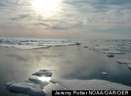The dramatic loss of Arctic sea ice this summer is just one of the signs global warming has not stopped, scientists say. (Jeremy Potter NOAA/OAR/OER)