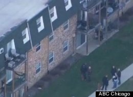 Outside the Palos Hills, Ill. apartment complex where maintenance workers reported a