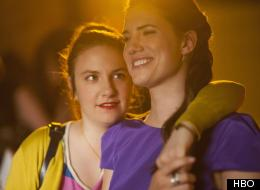 Lena Dunham and Allison Williams in 'Girls.'
