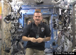 Canadian astronaut Chris Hadfield gave an update from aboard the ISS.